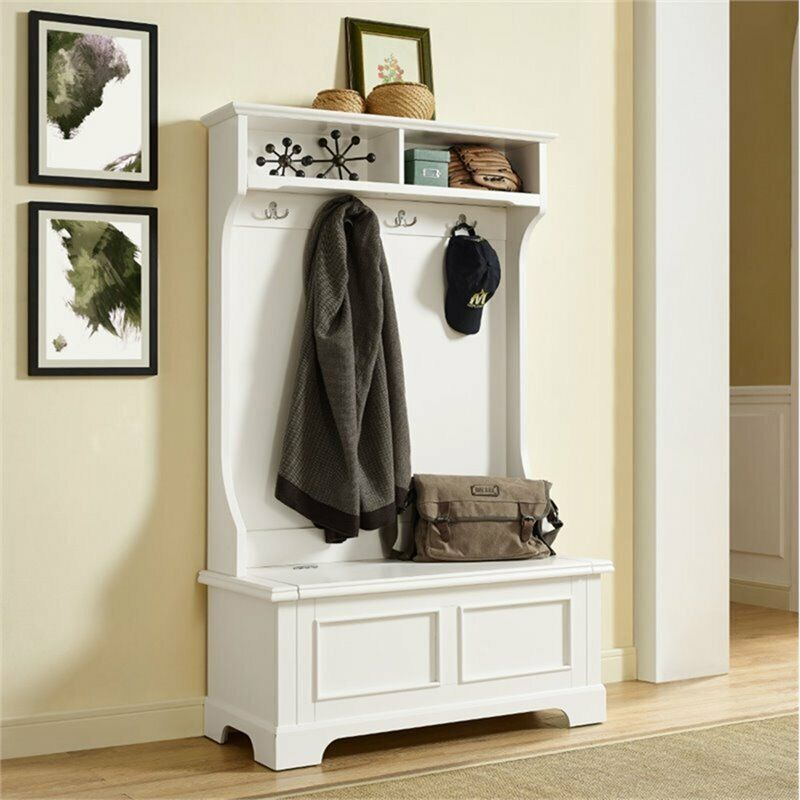 Crosley Campbell Hall Tree in White
