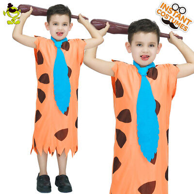 Fred Flintstone Child Costumes Kid Ancient Caveman Cosplay Fancy Dress for Party](Caveman Costumes For Kids)