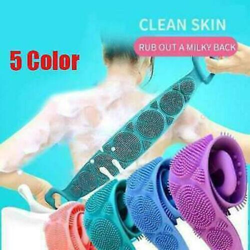 Bath Shower Silicone Body Scrub Brush Bath Belt Exfoliating Cleaning Back Towel Bath & Body