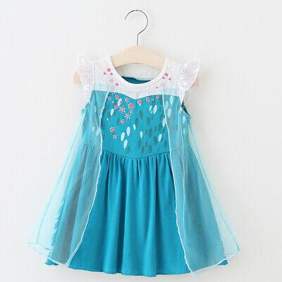 Baby Girl Toddler Elsa Dress Frozen Inspired Costume Party Halloween Dress ZG9](Elsa Costume Baby)
