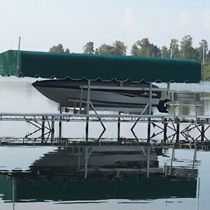 10x26 Canopy Cover for a Floe Boat lift
