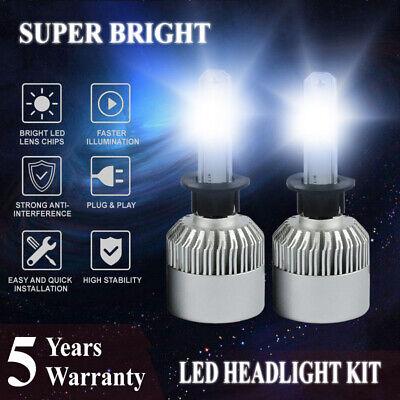 H1 LED Headlight Bulbs Conversion Kit 2500W 375000lm 6000K White Light Bulb Lamp