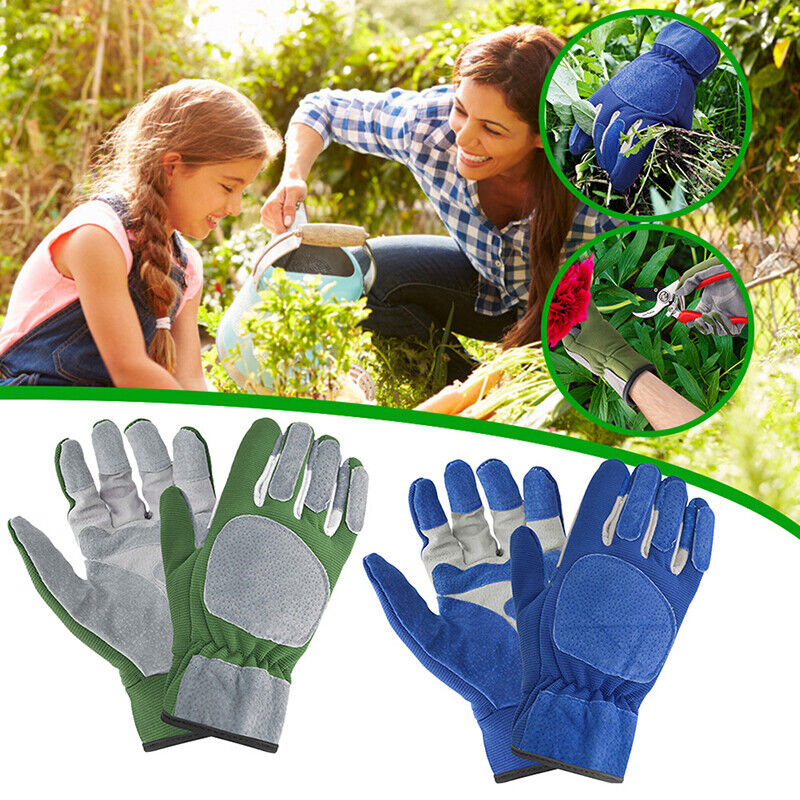 Leather Gloves Anti-slip Breathable Comfortable Weed Puling Up Gloves For Garde+