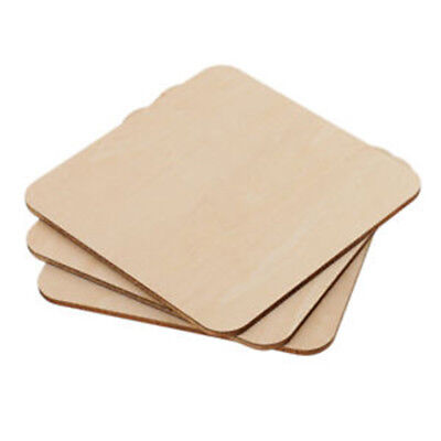 50/100pcs MDF Unfinished Wood Wooden Pieces Blank Plaque For DIY Craft - Unfinished Wood Plaques