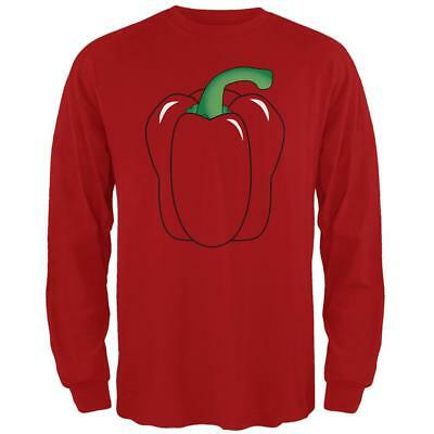 Halloween Bell Peppers (Halloween Fruit Vegetable Bell Pepper Costume Mens Long Sleeve T)