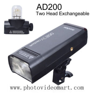 Godox 2.4G TTL 200W 1/8000 Double Head AD200 Pocket Flash