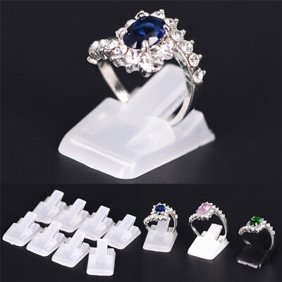 10x Ring Show Plastic Frosted Jewelry Displays Holder Decoration Stand Lp UCO - Lps Decorations