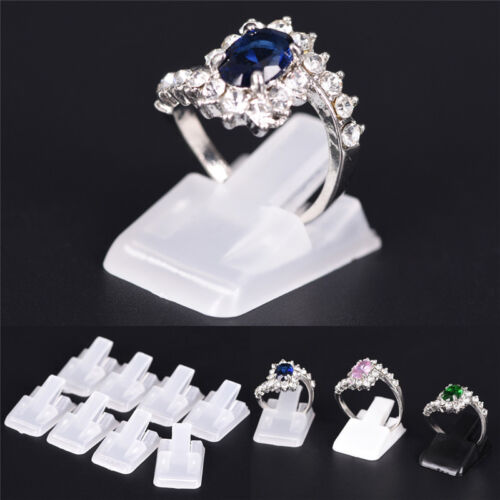 10Pcs Ring Show Plastic Frosted Jewelry Displays Holder Decoration Stand LpS1