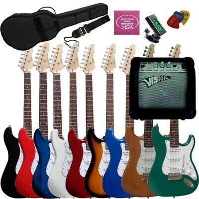 Set Pack guitarra eléctrica adulto Amplificador 20W accesorios stratocaster