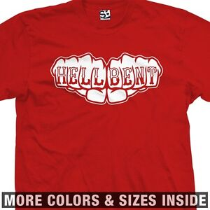 Hell-Bent-Fists-Knuckle-Tattoo-T-Shirt-All-Sizes-Colors-Avail