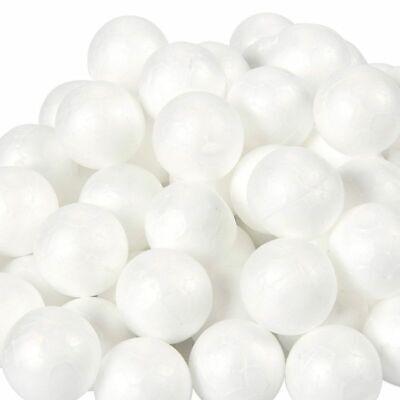 Foam Balls Craft (100-Pack Craft Foam Balls, Round Polystyrene Foam Ball for Arts, 0.9