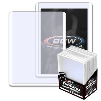 25 BCW 3 x 4 TOPLOAD BASEBALL TRADING CARD HOLDERS WHITE BORDER HARD PROTECTORS