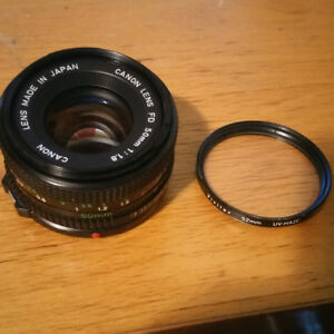 Canon 50mm FD 1.8 Lens w/ Filter