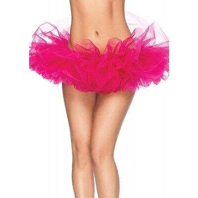 LA-A1705 Sexy Hot Pink Organza Tutu Skirt Halloween Costume Rave Raver Wear (Halloween Rave Wear)