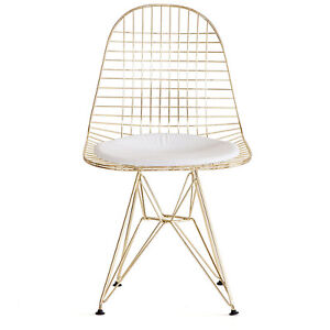 Eames Style Eiffel Dining Chair Chaise Diner Mid-Century Gold Or Saguenay Saguenay-Lac-Saint-Jean image 1