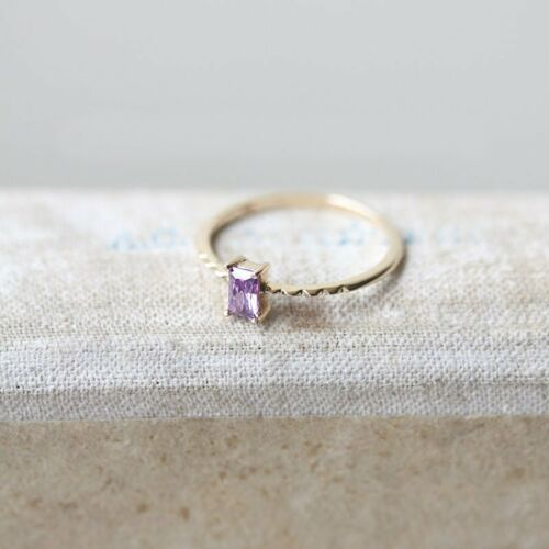 For Women Fashion Jewelry Purple Crystal Wedding Finger Ring