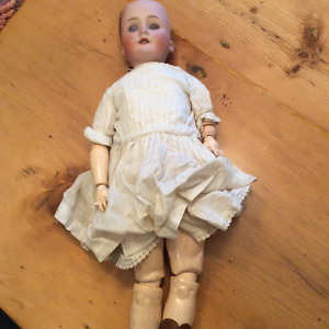 Antique German porcelain doll 23""
