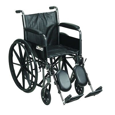 Drive Medical Silver Sport 2 Wheelchair w/Detachable Full Arms & Elevating Leg