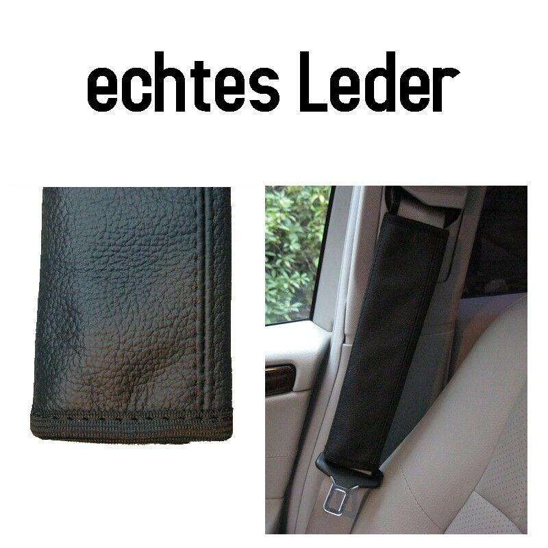 2 x Gurtpolster 100% echtes Leder schwarz Polster Gurtschoner Schulterpolster