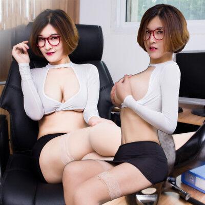 Sexy OL Uniform Damen Dienstmädchen Uniform Cosplay Kleidung Rock Anzüge Kostüme ()