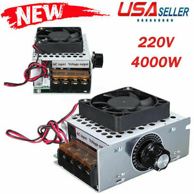 4000w Speed Controller With Fan Case Ac 220v Voltage Regulator Thermostat Dimmer