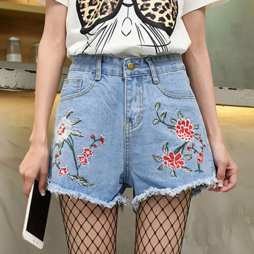 95a33ce5617e Women High Waisted Washed Ripped Hole Short Mini Jeans Denim Pants Shorts  Summer