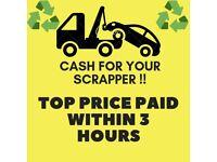 SCRAP MY CAR - CASH FOR SCRAP - RAPID COLLECTION - TOP PRICES - ERITH BEXLEYHEATH DARTFORD GRAVESEND