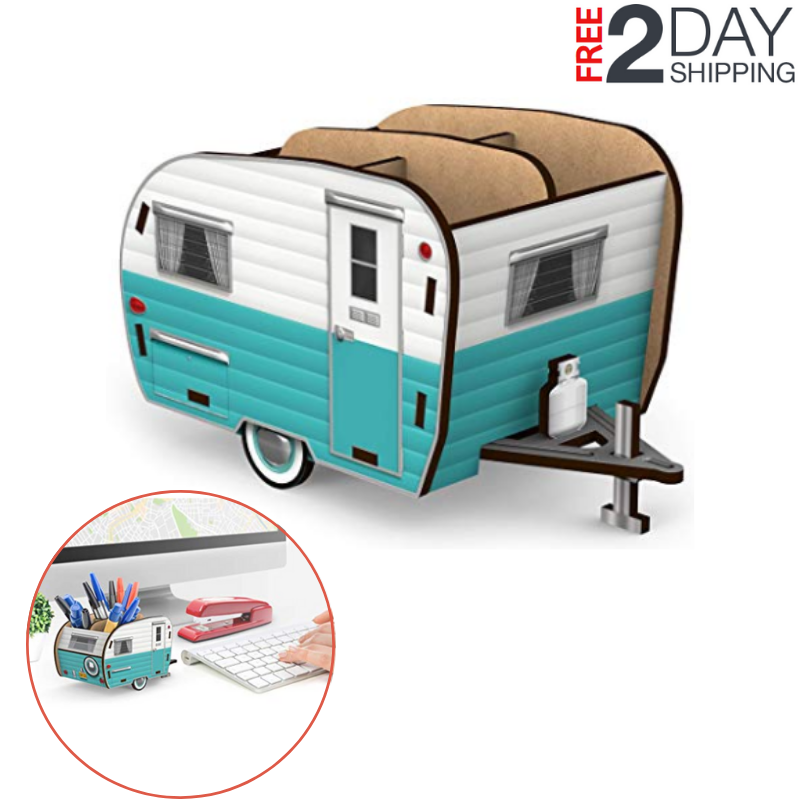 Fred Happy Camper - Vintage Pencil Holder Office Products