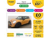 MINI COOPER 1.2 1.5 2.0 S D SEVEN ONE COUPE CHILLI PACK 192BHP FROM £51 PER WEEK