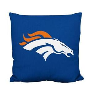 Denver Broncos Deluxe Logo Style Decorative Cushion Cover Without Insert (New)