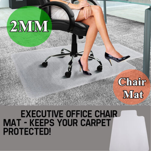 2MM Thick Chair Mat for Carpet Floor Protection Under Execut