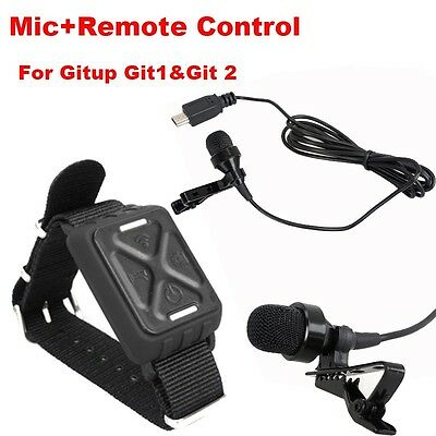 External Microphone +Remote Controller For Gitup Git2 WiFi Sports Action Camera