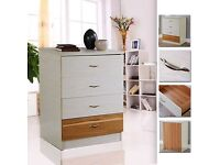 Cream Chest of Drawers Cabinet 4 Drawers Stylish Furniture