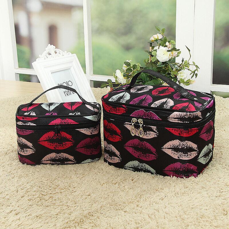Kosmetiktasche Kulturbeutel Schminktasche Groß Organizer Reise Make-up Taschen #1 Mehrfarbig Lippen