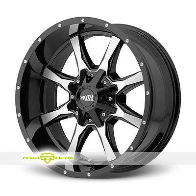 """20x9 MO970 Machined Rims w/ FreePasser 33X12.50R20 20"""" Off Road Wheels and Tires"""