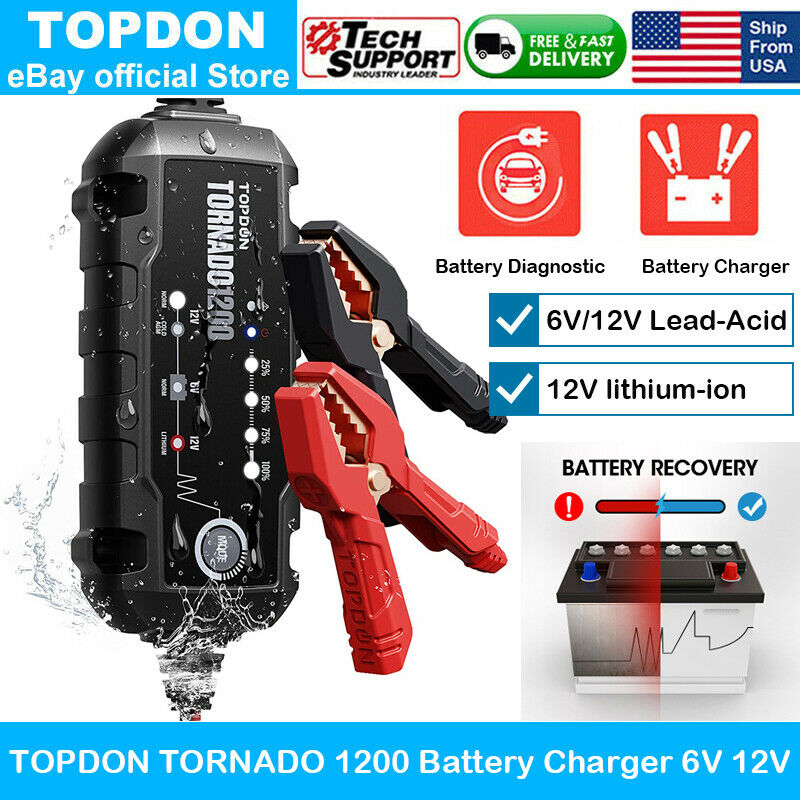Car Smart Battery Charger & Maintainer Desulfator 6V 12V Wet MF GEL AGM Battery