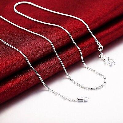 925 Silber Schlangenkette Kette Halskette Silberkette Sterlingsilber 45cm NEU