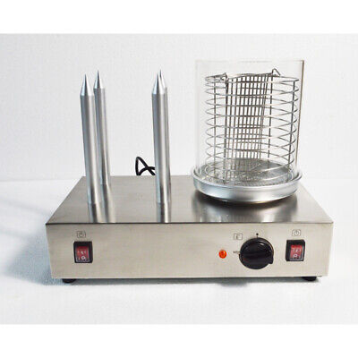 Hot Dog Machine Bun Warmer Electric 110v Steamer With 4 Non-stick Spikes New