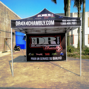 Custom Canopy Tents. Flags, Table Covers, Trade show Light Box