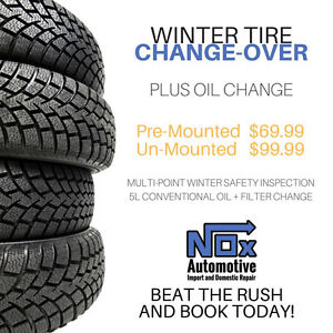 Winter tire Mount and balance Inspection and Oil Change
