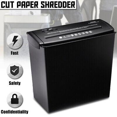 5 Sheet Shredder Cross Cut Home Office Paper Destroy Credit Card Heavy Duty