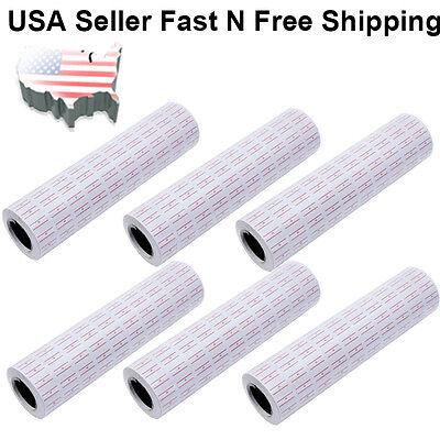 1000040000 White Red Line Tags Labels Refill Mx-5500 Gun Markdown Price Sticker