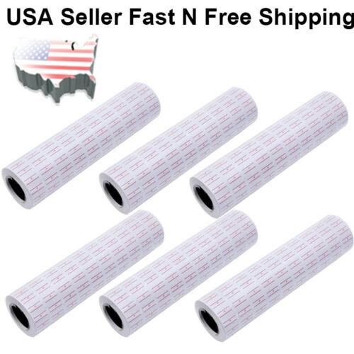 10000/40000 White Red Line Tags Labels Refill MX-5500 Gun Markdown Price Sticker