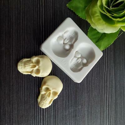Skeleton Head Skull Silicone Cake Decoration Mold Pastry Baking Tools Q for sale  Shipping to Canada