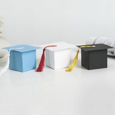 US 10x Paper Gift Storage Box Candy Boxes Wedding Favors Graduation Cap Party 34 Graduation Cap Favor Boxes
