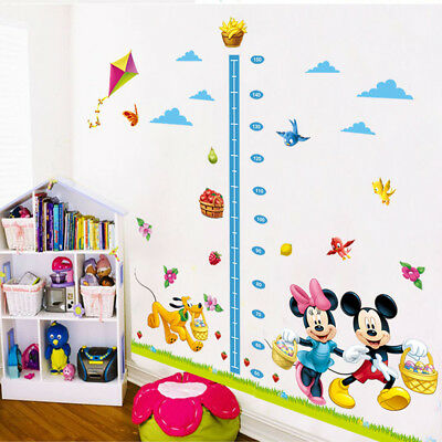 (Mickey Wall Stickers Growth Chart Measure 3D Decal Wallpaper Art For Kids Room)
