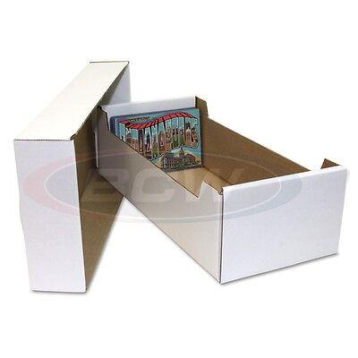 1 Bundle 25 BCW Postcard Corrugated Cardboard Storage Box for 4x6 Postcards Case