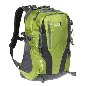 35L Outdoor Sport Hiking Camping Climbing Bag Backpack with Rain Cover Green