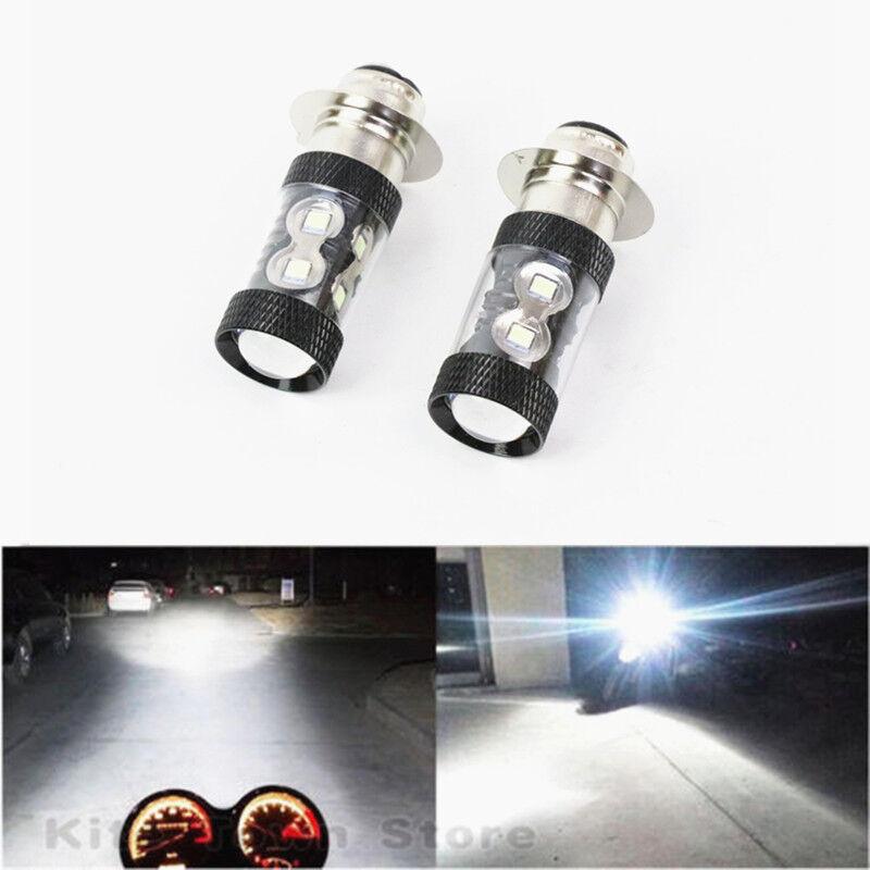 2x 100W CREE LED White Headlight Bulbs For Can-Am Outlander 1000 500 650 800R