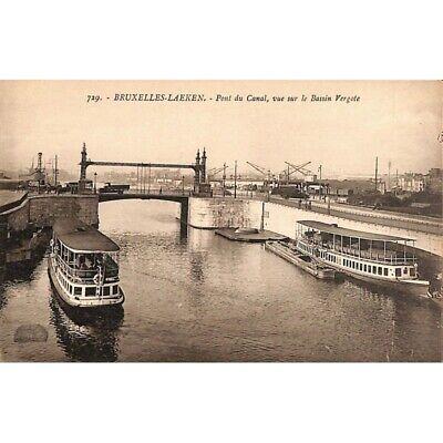 Bruxelles - Laeken. Pont du Canal, vue sur le Bassin Vergote.